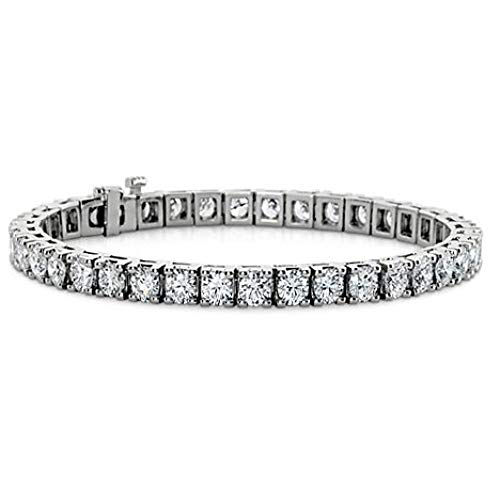 Madina Jewelry 2.00 ct Ladies Round Cut Diamond Tennis Bracelet in 14 kt White Gold 2ct Round Diamond Tennis Bracelet