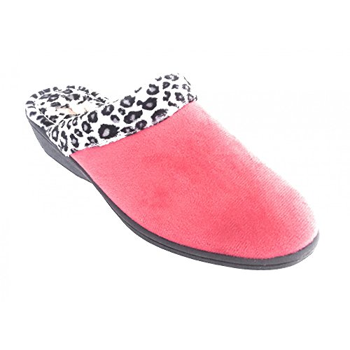 pour Red Rouge Femme Chaussons Lotus 0Ywp5q