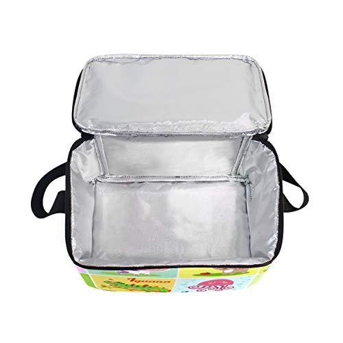 alfabeto picnic de fiambrera ABC para correa niños con almuerzo hombro refrigerador Bolsa animales de xFqdttz