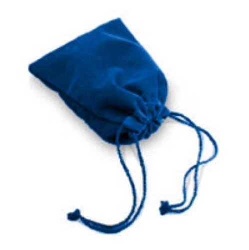 bluee Velour Dice Bag (Large) MINT New by Chessex Manufacturing