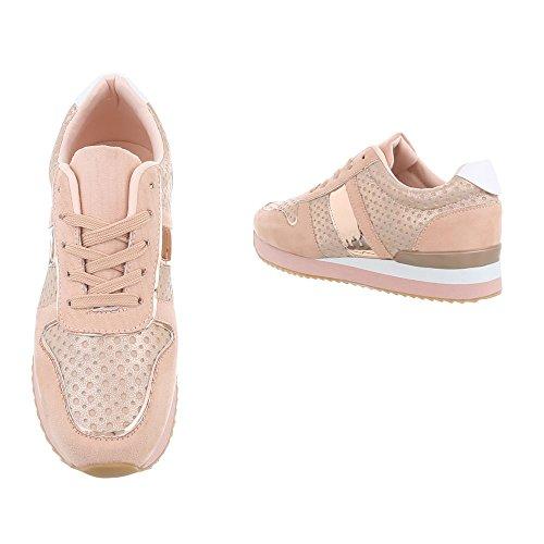 Ital 85 Plano G Zapatillas para Zapatillas Design Low Zapatos Rosa mujer nwUYxqPwcv