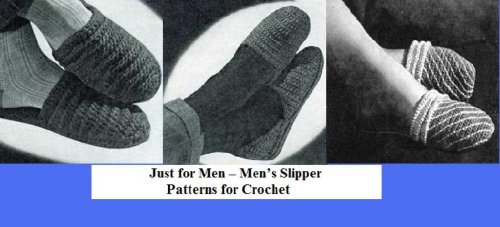 Just for Men – Men's Slipper Patterns for Crochet ()
