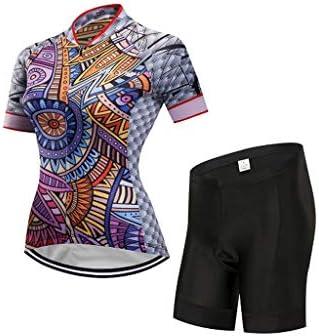 自転車ジャージ女性サイクリングシャツバイクタイツセットサイクリングウェア通気性と速乾性