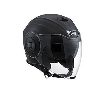 AGV Fluid E2205 - Casco para moto, Negro Mate, L