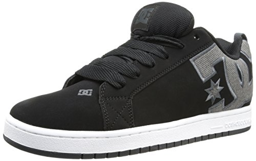 Grey Black Black Men Skateboarding Graffik Court DC Shoe SE Yvqgw8