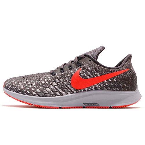 Nike Men's Air Zoom Pegasus 35 Running Shoe, Thunder Grey/Bright Crimson-Phantom, 9.5