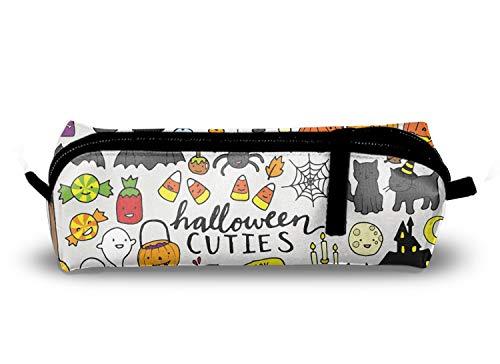 (Cute Halloween Pencil Case Zipper Oxford Cloth Pen Pouch Bag for Women Girls Kids)