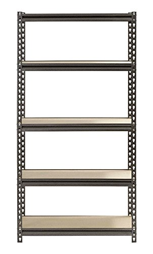 Storage-Rack. Floor Standing Boltless Shelving Unit W/5 Adjustable Utility Shelves For Home, Office, Garage, Warehouse. Indoor Industrial Heavy Duty Steel Vertical Stand For Storing, Organizing. by Storage-Rack