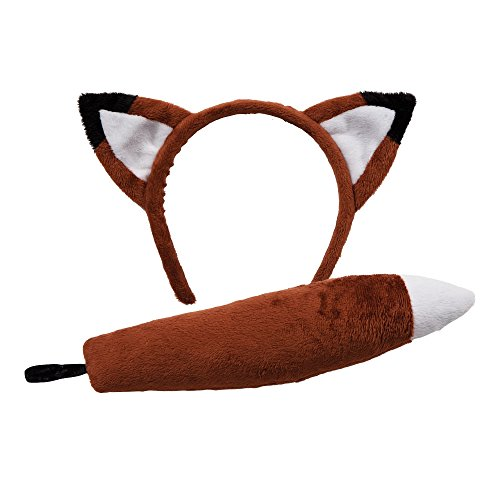 Animal Ears & Tail Set - Fox Kids Fancy Dress (Fox Tail And Ears)