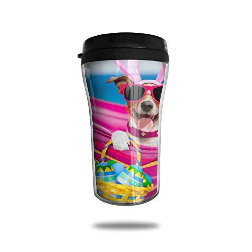 XKFBLL Holidays Easter Dogs Eggs Wicker Basket Personalized Custom 250ml Coffee Cup Tea Mug Travel Vacuum Mugs Drink Bottle -