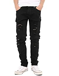 Men's Skinny Hipster Skinny Ripped Gothic Jeans