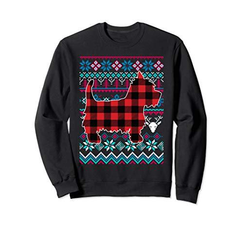 (Plaid Westie Ugly Christmas Sweater Funny Holiday Sweatshirt)