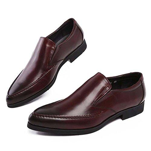 da Scarpe Sposa Europea Uomo da da Lavoro Americana Scarpe Scarpe Versione marrone Comfort di Scarpe MYI Singolo e Ix57Y