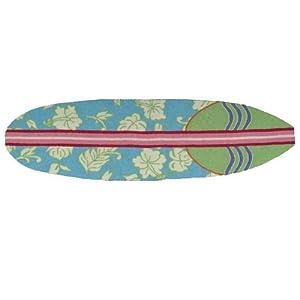 Homefires Accents Surfboard Hawaiian Turquoise 20-Inch by 72-Inch Indoor Rug,...