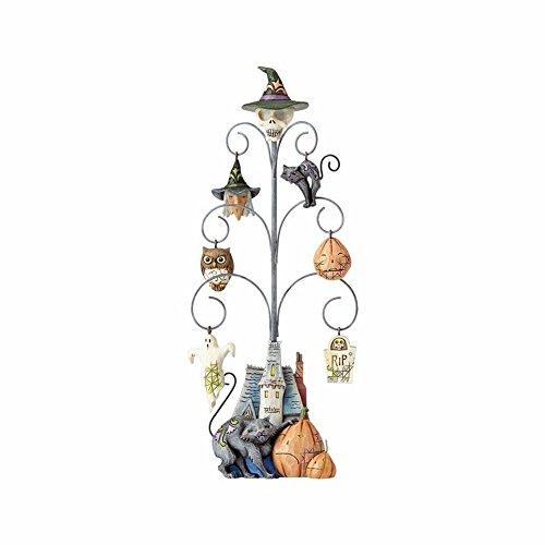 Jim Shore Heartwood Creek Spooky Halloween Tree with 6 Mini Ornaments
