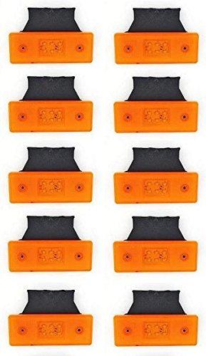 10 luces de gá libo laterales con 6 luces led, 12 V, color naranja 12V