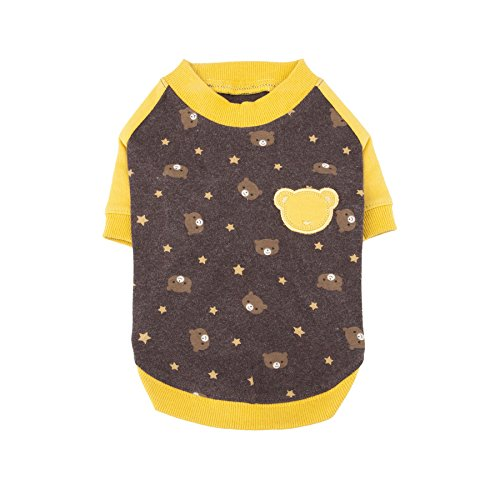 Puppia Authentic Boo Boo II Shirt, Medium, Brown by Puppia