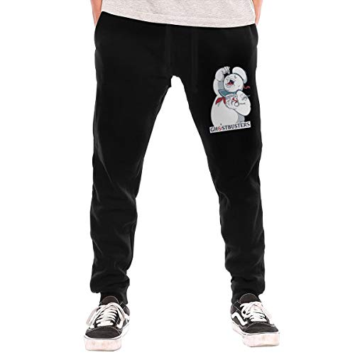 Cheny Mens Ghostbusters Stay Puft Marshmallow Active Basic Jogger Pants Sweatpants Pocket