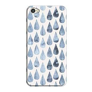 Cover It Up - Raindrops Print Denim Redmi Y1 Lite Hard Case