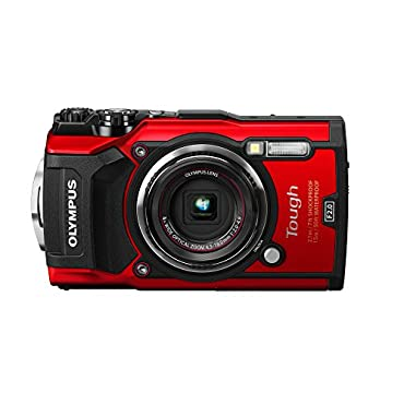 Olympus TG-5 Waterproof Camera with 3 LCD, Red (V104190RU000)