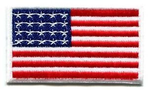 American Flag Old Glory Applique Iron-on Patch S-100 Cute Gift to Your Cloth Fast Shipping