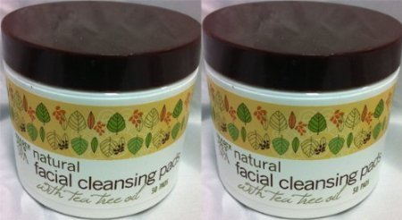 2 Pack Trader Joe's Spa Natural Facial Cleansing Pads with Tea Tree Oil