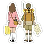 Moonrise Kingdom - Suzy and Sam (Size W8.2 x H9 Centimeter) Car Motorcycle Bicycle Skateboard Laptop Luggage Vinyl Sticker Graffiti Decal Bumper Sticker By August999