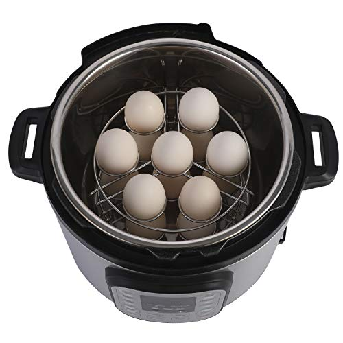 Aozita Stackable Egg Steamer Rack Trivet for Instant Pot Accessories - Fits 5,6,8 qt Pressure Cooker - 2 Pack Stainless Steel Multipurpose Rack by Aozita (Image #4)