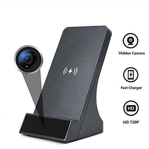 LIZVIE Spy Camera WiFi Hidden Camera with Wireless Phone Charger 720P Security Cameras Nanny Cam with Motion Detection, Phone Remotely Monitoring/Support 2.4GHz WiFi No Night Vision
