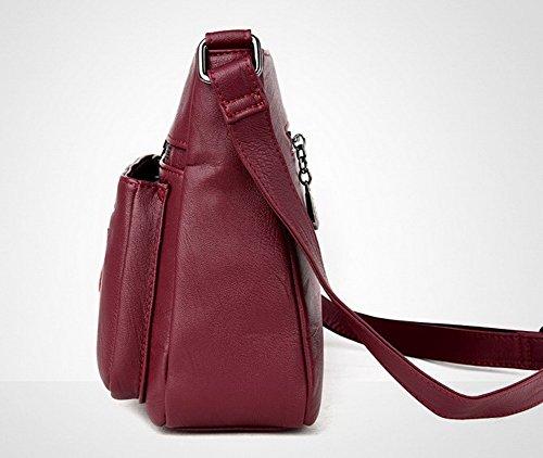 Vineux Rouge Achats à sacs VogueZone009 Cuir Zippers CCAFBP180891 bandoulière Pu Des Sacs Femme OwxgqP7