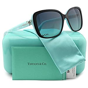 Tiffany & Co. TF4092 Sunglasses Top Black/Blue w/Blue Gradient (8055/4S) TF 4092 80554S 56mm Authentic