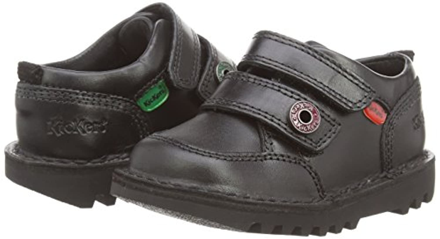 Kickers Kick Racer Mf Lthr Im, Boys' Loafers, Black (Black), 5 Child UK (22 EU)