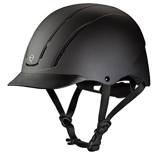 Troxel Spirit Performance Helmet, Black Duratec, Medium (Riding Western Helmets)