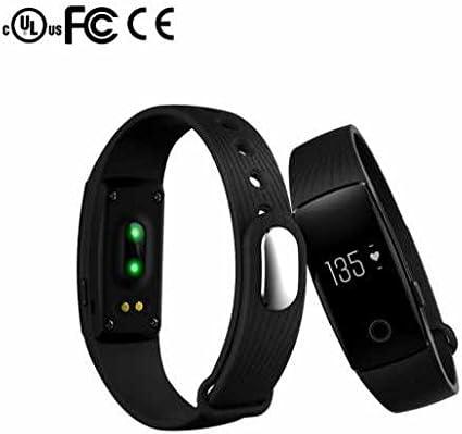 Bluetooth Smart Armband Teléfono reloj chica Smartwatch Armband, 24 horas Pulsómetro, Remote Cámara, aspecto elegante, Sleep Health Tracking para iPhone Android Smartphone, 0.05 pounds, color negro: Amazon.es: Deportes y aire libre