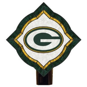 NFL Green Bay Packers Vintage Art Glass Nightlight