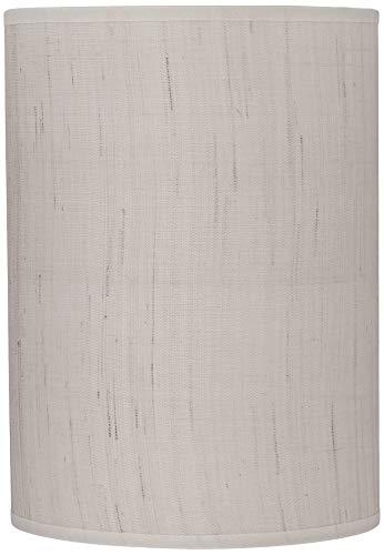 Ivory Linen Drum Cylinder Shade 8x8x11 (Spider) - Brentwood
