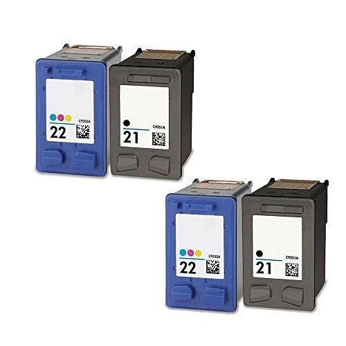 YATUNINK 2Set of 2 Pack Remanufactured 21 22 Ink Cartridg...