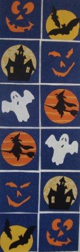 12 Applique Scrap Halloween Quilt Blocks 6.5 Inch Squares