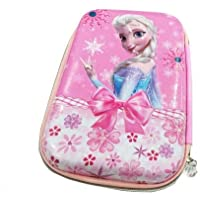 Toyvala Stylish & Unique Frozen Jumbo Pencil Pouch Embossed Art EVA Pencil Box Girl Cosmetic Makeup Stationery Organizer for Kids Girls