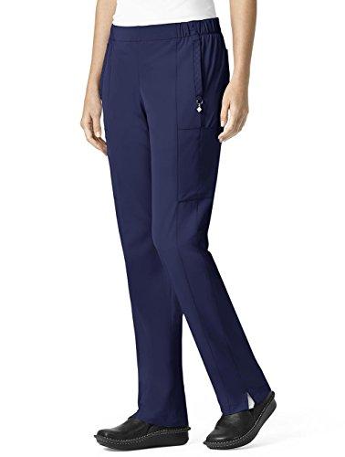- Vera Bradley Halo Collection Women's Mary Quilted Cargo Scrub Pant- Navy- Medium Petite