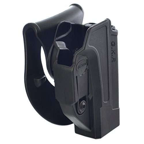 Holster Combat Glock (Orpaz Glock Gun Holster Polymer 360 Rotation Paddle & Belt w/ Tension Adjustment Screw Fits Glock 17/19/22/23/25/26/31/32/34/35)