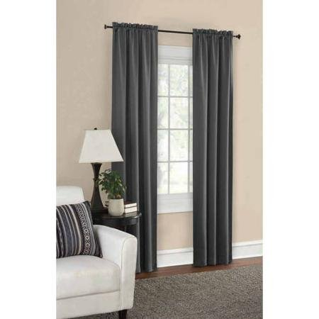 Mainstays Thermal Solid Woven Window Panel Pair, Size 60 x 84, Color GRAY