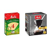Melitta #4 Cone Coffee Filters, Natural Brown, 100