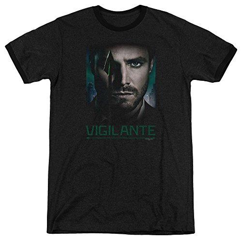 Arrow Good Eye Unisex Adult Ringer T Shirt for Men and Women, X-Large Black (Ringer T-shirt Eye)