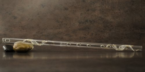 Hall Crystal Flute 11709 - Inline Glass Flute in G - White Dragon (Flutes Logo Champagne)