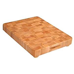 Catskill Craftsmen 17-Inch End Grain Chopping Block with Feet
