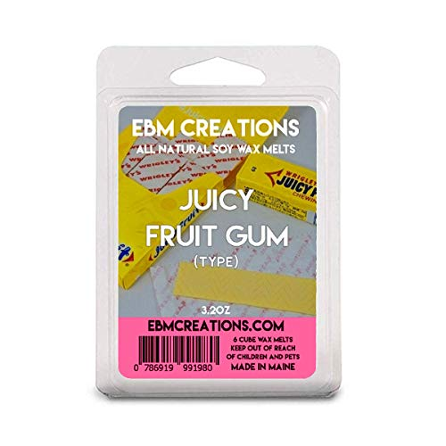 Juicy Fruit Gum (Type) - Scented All Natural Soy Wax Melts - 6 Cube Clamshell 3.2oz Highly Scented!