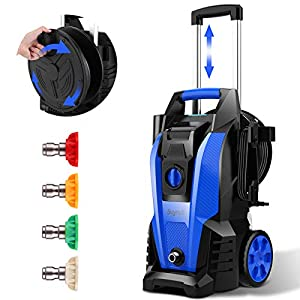Power Washer, Suyncll Pressure Washer 3800 Max PSI 2000W Electric Portable High Pressure Cleaner Machine with 4 Nozzles…