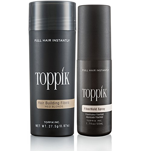 TOPPIK Hair Building Fibers with TOPPIK Fiberhold Spray 50 ml (Medium Blonde)