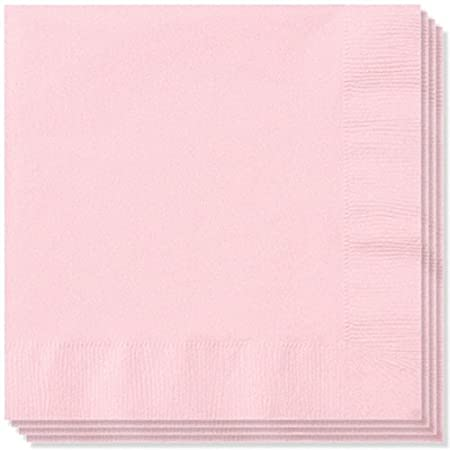 100 x 2ply Rose Pink Paper Napkins Serviettes 33cm: Amazon.co.uk ...